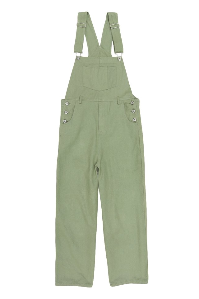ASHTON STRAIGHT-CUT DUNGAREES IN THISTLE