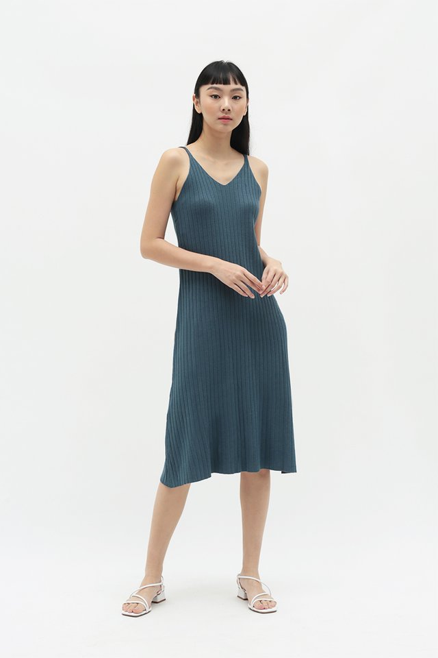 BLAIR KNIT DRESS IN PACIFIC BLUE