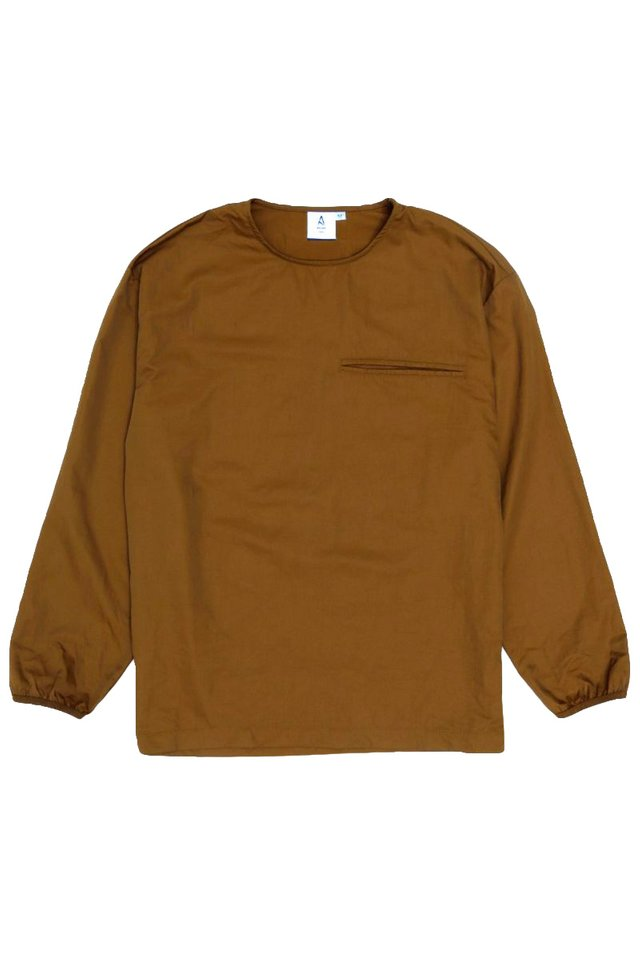 EUAN LONG SLEEVE POCKET TOP IN COFFEE