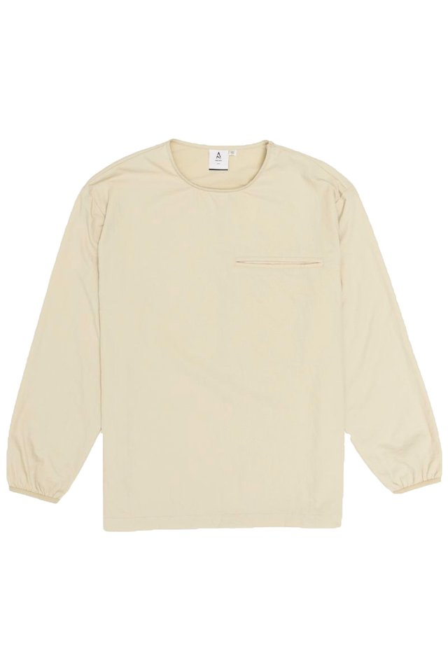 EUAN LONG SLEEVE POCKET TOP IN CREAM