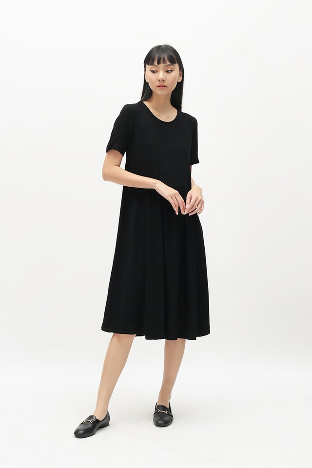MATHILDA TIE DRESS IN BLACK