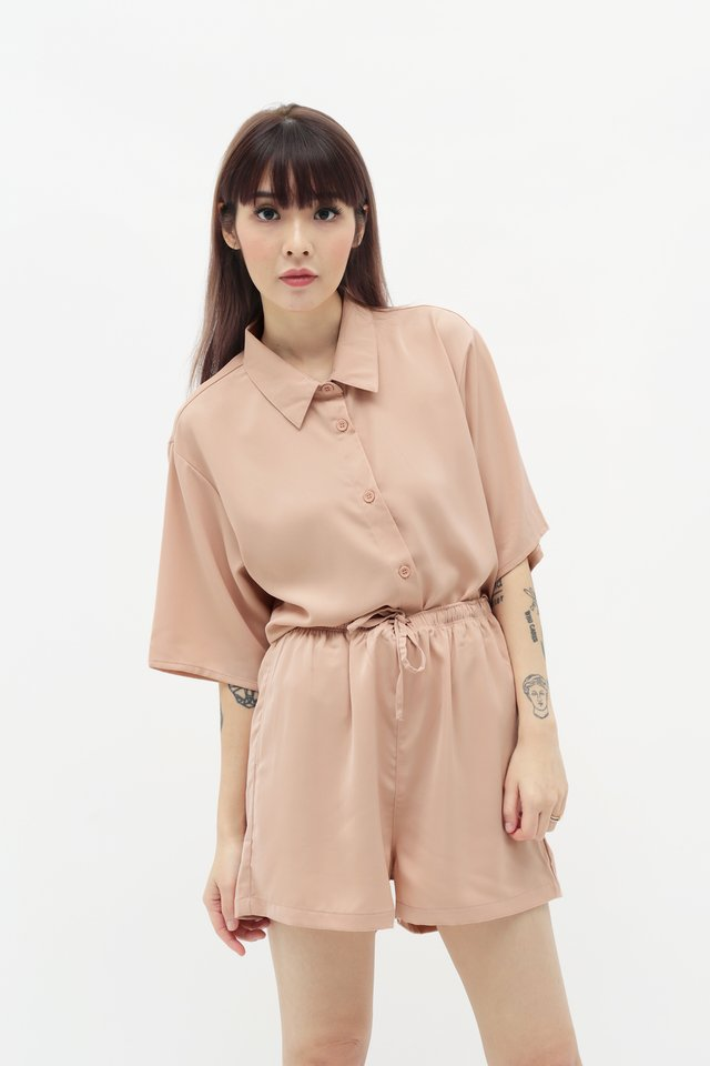 MAURIE BUTTON SHIRT IN BLUSH