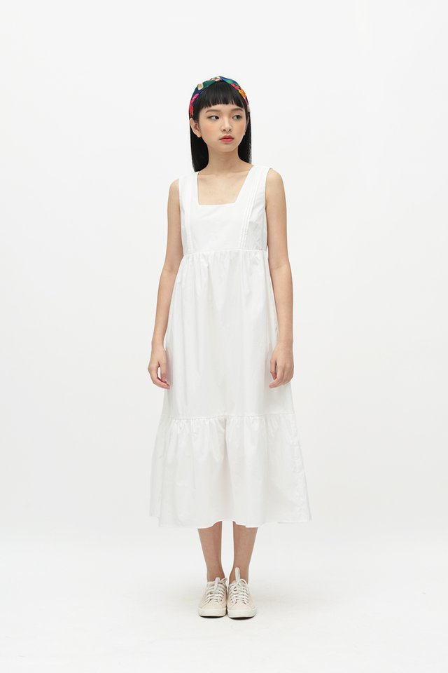 ADELIA MIDI DRESS IN WHITE