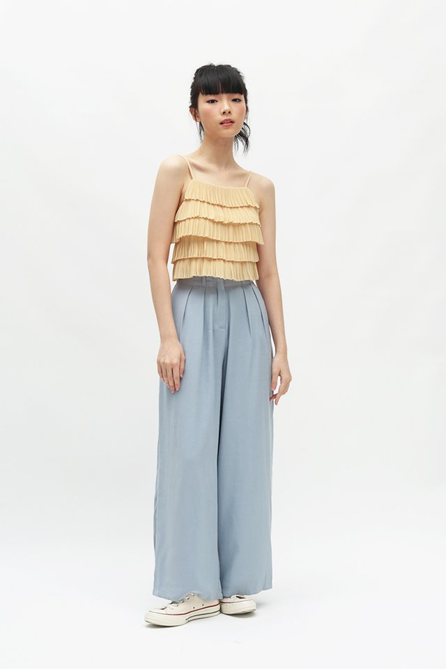 ALY PALAZZO PANTS IN CORNFLOWER