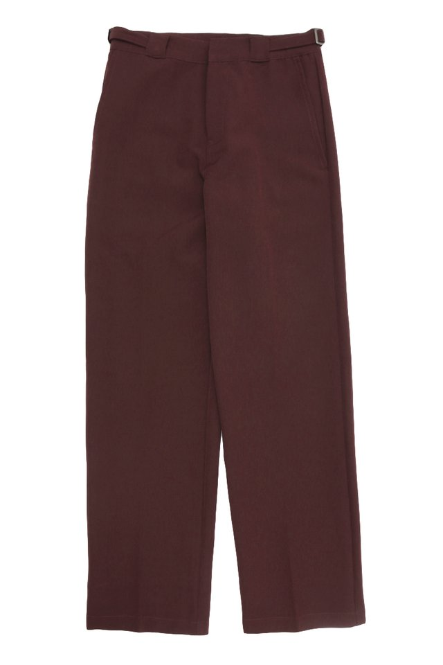 GARTH STRAIGHT-FIT TROUSERS IN BURGUNDY