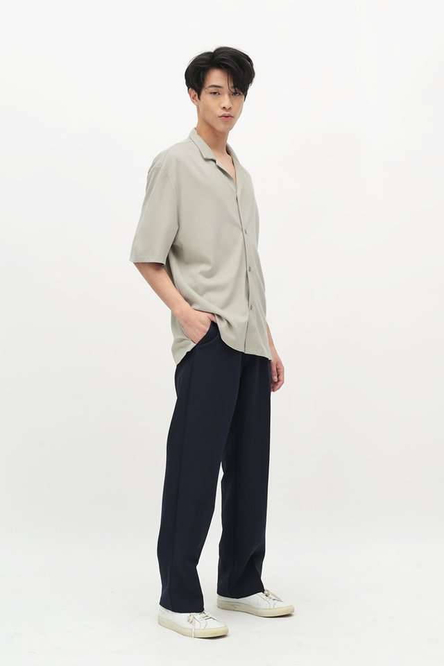 GARTH STRAIGHT-FIT TROUSERS IN NAVY