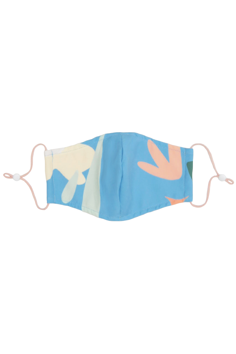 WILDFLOWER CHILD ADULT FACE MASK IN SKY