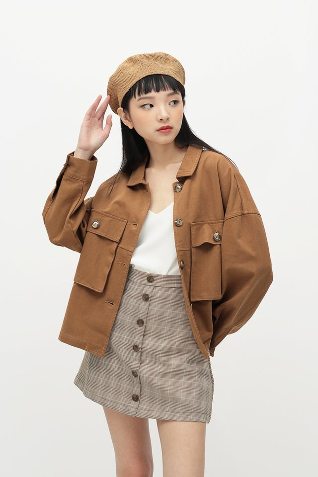 EDNA OVERSIZED JACKET IN PECAN