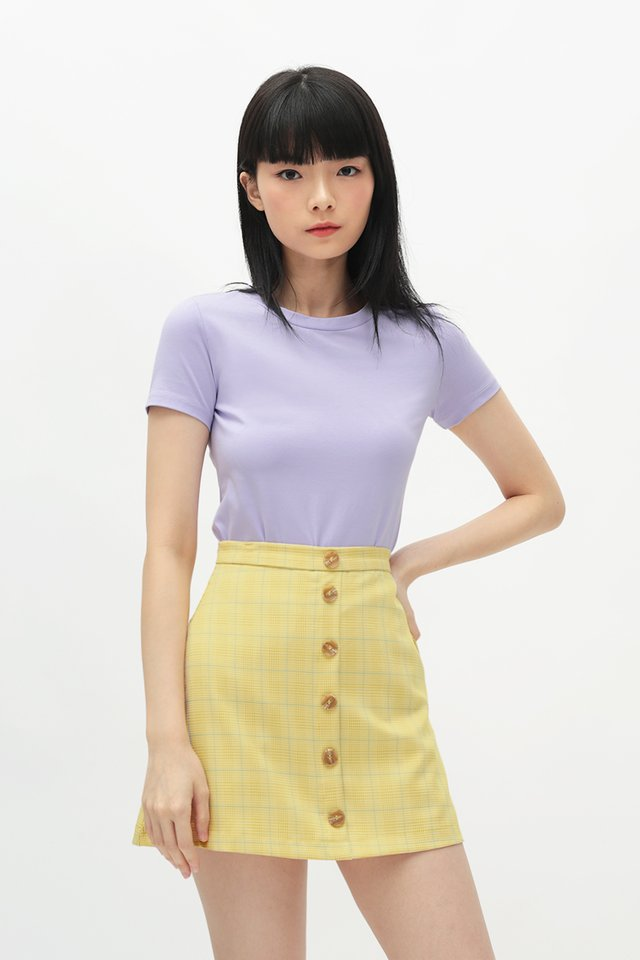 JERRIKA CROP TEE IN LILAC
