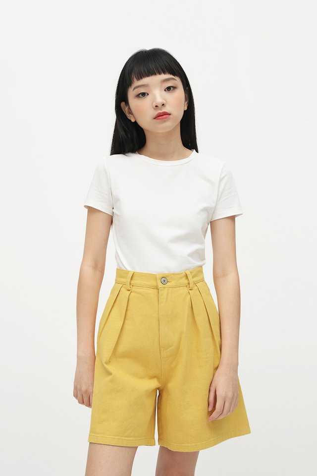 JERRIKA CROP TEE IN WHITE