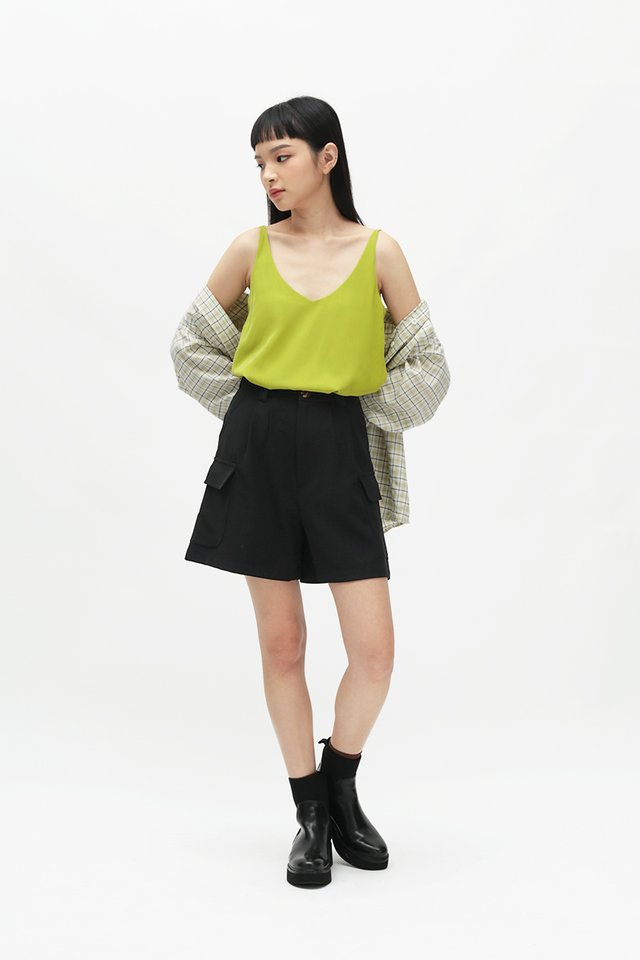 KARI SPAG TOP IN CHARTREUSE